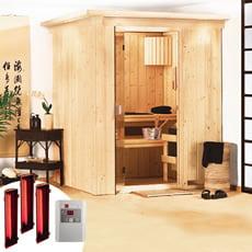Sauna infrarossi Rina con SET lampade infrarossi