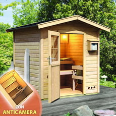 Sauna finlandese da giardino Aida con anticamera
