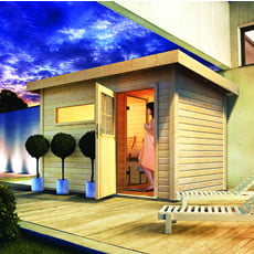 Sauna finlandese da giardino Zen 1