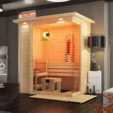 Sauna finlandese Flora 40 mm - Combo sauna finlandese e infrarossi