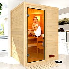 Sauna finlandese Gioia in massello 38 mm