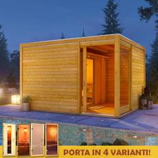 Cubo da giardino ERICK con Sauna finlandese Anastasia