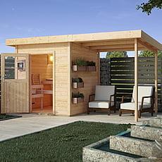 Sauna finlandese da giardino Tania con anticamera