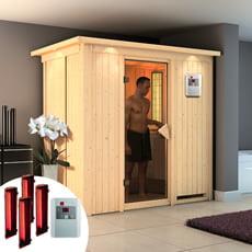 Sauna infrarossi Variado con SET lampade infrarossi