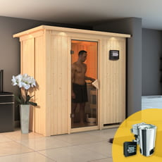 Sauna finlandese multifunzione Variado con stufa COMBO-BIO 3,6 kW