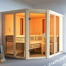 Sauna multifunzione finlandese e infrarossi Eva per centro benessere