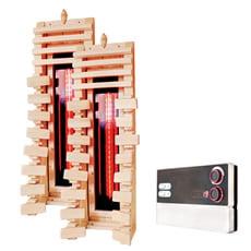 Schienale ergonomico in legno con riscaldatore a infrarossi - SET 2