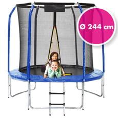 Trampolino elastico da giardino con rete di sicurezza ø 244 cm