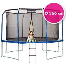 Trampolino elastico da giardino con rete di sicurezza ø 366 cm