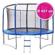 Trampolino elastico da giardino con rete di sicurezza ø 427 cm