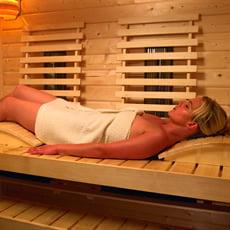 Poggiatesta Luxe per sauna