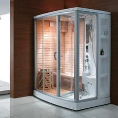 Piscineitalia cabina multifunzione doccia sauna pinkflower - Box doccia con sauna e bagno turco ...
