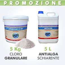 5 Kg Cloro granulare + 5 L antialga