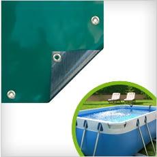 Coperture invernali per piscine interrate con fascette e tubolari da ... 2e90464598ce
