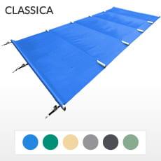 Copertura a barre 4 stagioni CLASSICA 580 gmq formato STANDARD per piscina rettangolare 8x4 m