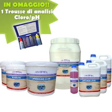 Kit per piscine con volume acqua da 50 a 80 mc
