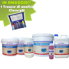 Kit per piscine con volume acqua da 20 a 50 mc
