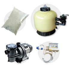Kit filtrazione per piscine TIRRENO SIDE 450