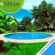 Piscine interrate in lamiera d'acciaio Skyblue Relax