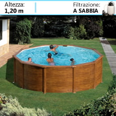 Piscineitalia piscine fuoriterra in acciaio circolari for Piscina fuori terra 4x8 prezzo