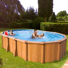 Piscineitalia piscine fuoriterra in acciaio ovali con - Piscine in acciaio fuori terra ...