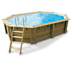 Piscine in legno fuori terra piscina in legno carra - Gloria vendita piscine ...