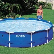 Piscina fuori terra in tubolari intex frame 457h 1 07 piscine italia - Piscine rettangolari fuori terra ...