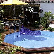 Piscineitalia piscina fuori terra in legno jardin 537 for Piscine da interrare
