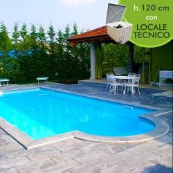 Kit piscine pannelli in acciaio piscine italia - Locale tecnico piscina ...