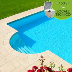 Richiesta preventivo per piscina interrata kit pannelli acciaio futura romana 150 deluxe - Piscina interrata in vetroresina ...