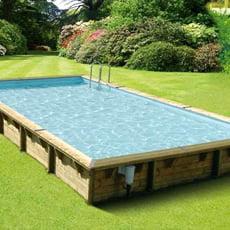 Piscineitalia piscina fuori terra in legno rettangolare gloria 8x4 - Piscine rettangolari fuori terra ...