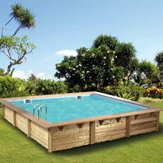 Piscineitalia piscina fuori terra in legno rettangolare for Piscina 3x3
