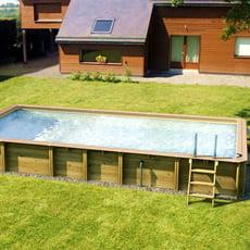 Piscina fuori terra in legno rettangolare GLORIA 6x3