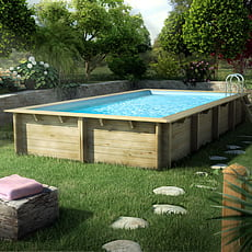 piscineitalia piscine hors sol en bois rectangulaire. Black Bedroom Furniture Sets. Home Design Ideas