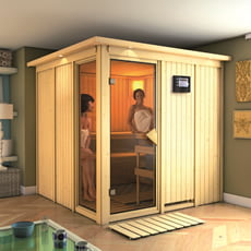 Sauna finlandese in legno nordico Evelyn