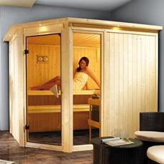 Sauna finlandese in legno nordico Fedora 3