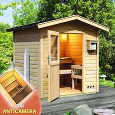 Sauna giardino Nicla con anticamera