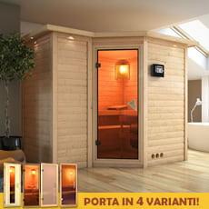 Sauna finlandese in legno nordico ZARA