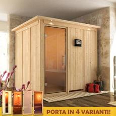 Sauna finlandese in legno nordico ANASTASIA