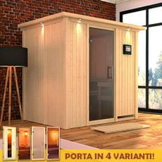 Sauna finlandese in legno nordico Laura