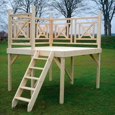 Piscineitalia terrazza in legno per piscine fuori terra - Scala per piscina fuori terra ...