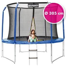 Trampolino elastico da giardino con rete di sicurezza ø 305 cm