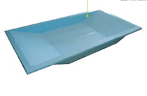 Vaschetta lavapiedi termosifoni in ghisa scheda tecnica for Interrare piscina intex